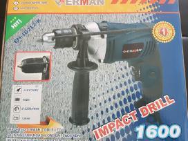 Elektrinis gręžtuvas Erman 1600w ir 1700w