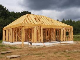 Karkasiniu namu statyba/projektavimas