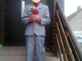 Šviesiai pilkos spalvos kostiumas 7-9 metų berniuk