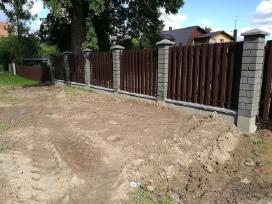 Tvora vartai blokeliai stulpai tvoros pamatai - nuotraukos Nr. 4