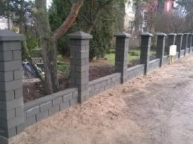 Tvora vartai blokeliai stulpai tvoros pamatai - nuotraukos Nr. 2