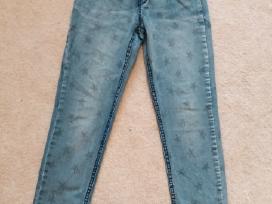 Džinsinės kelnės mergaitei 128cm