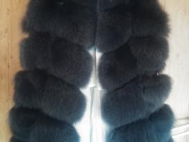 Stilinga siūta profesionalo lapės kailio liemenė