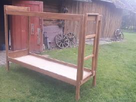 Parduodu 8 mažai naudotas medines dviaukštes lovas