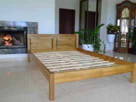 Nauja viengulė medinė lova balta masyvas 120 x 200