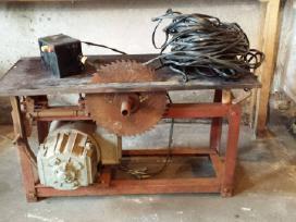 Medienos pjovimo staklės, elektros varikliai