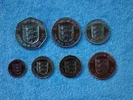 Bailiwick of Jersey 7 coins set cu-ni