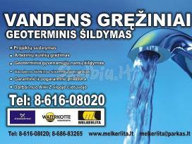 Arteziniai vandens greziniai, bei geoterminis sild