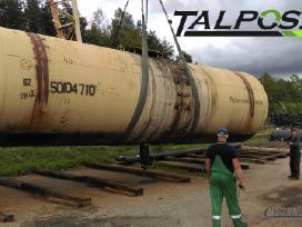 Traukinio cisterna: skystam kurui, trąšoms ir kt.