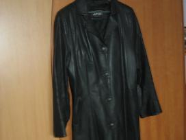 Odinė juoda striukė (mažai nešiota)