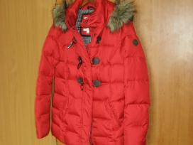 Raudona labia šilta žieminė striukė