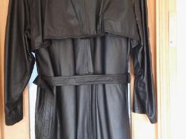 Naujas odinis ilgas paltas 56 dydis