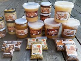 Medus, bičių duonelė, pikis, žiedadulkės, pienelis