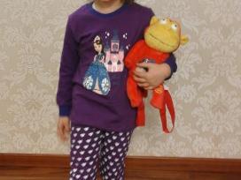 Vaikiškos Pižamos Mergaitei 110 cm. - nuotraukos Nr. 2