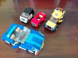 Originalių Lego rinkinių automobiliai, gyvūnai.