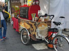 Kavos dviratis su dujiniu kavos aparatu Wega