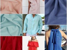 Linas, lininis audinys, linas drabužiams