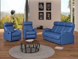 Miegama sofa su foteliais,su reglaineriais