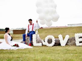 Vestuvių dekoravimas, pakvietimai, judantis stalas - nuotraukos Nr. 9