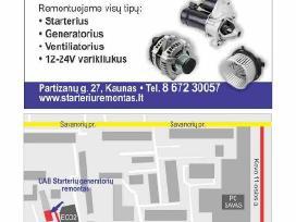 Starterių generatorių remontas Kaune