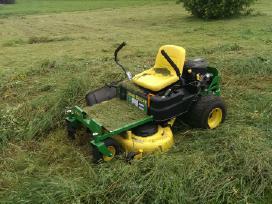 Žolės, krumu pjovimas,apleistų sklypų tvarkymas