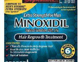 Kirkland Minoxidil 5% Extra, nuo plauku slinkimo