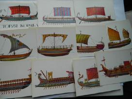 Atviruku rinkinys laivu istorija