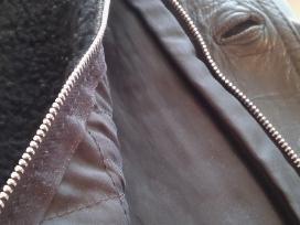 Natūralios odos paltas su įsegamu kailiu