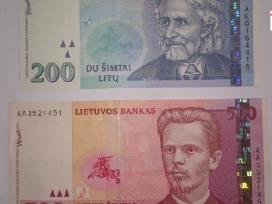1997m 200lt ir 2000m 500lt banknotai