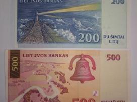 1997m 200lt ir 2000m 500lt banknotai - nuotraukos Nr. 2