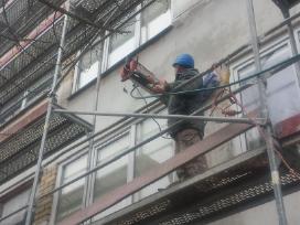 Fasadų šiltinimas Renovacija Pastolių nuoma - nuotraukos Nr. 10