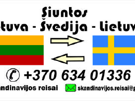 Siuntos Lietuva-švedija-Lietuva