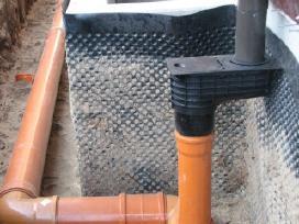Drenažo, lietaus vandens sistemos įrengimas