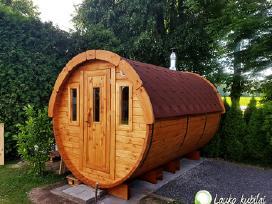 Gaminame lauko saunas - apvali pirtis bačka 3,5m
