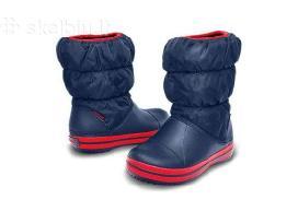 Nauji mėlyni Crocs Winter Puff Boot C12 (29-30)