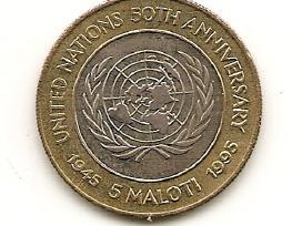 Lesotas 5 maloti 1995 bimetalas skirtas Jt