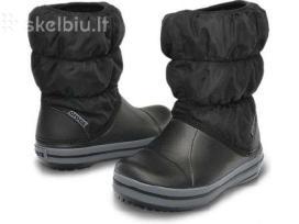 Nauji juodi Crocs Winter Puff C12, C13