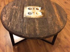 Kavos staliukas, apvalus žurnalinis stalelis