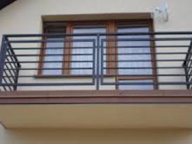 Turėklai, balkonai, tvorelės ir kiti gaminiai