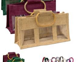 Krepšeliai, dėžutės įpakavimui, džiutas, medui