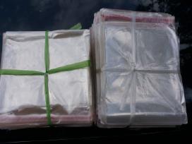 Celofaniniai klijuojami mašeliai 14x18 cm ir 16x14