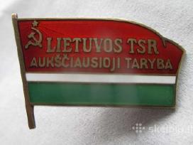 Perku Lietuvos Tsr aukščiausioji taryba ženkliukus
