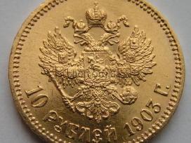Rusijos caro Nikolajaus II 10 rublių, 1903 АR