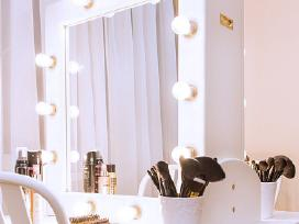 Dvipusis veidrodis su apšvietimu (lemputėmis)