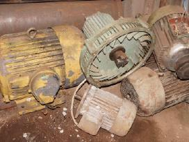 Gręžimo staklės, variklis, spaustuvai ir kt.