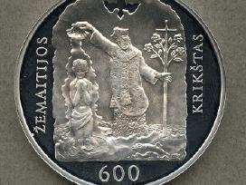 50 litų moneta, skirta Žemaitijos krikšto 600 metų