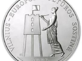 "50 Lt Sidabrinė moneta ""Vilnius - Europos kultūros"