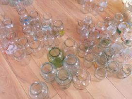 Stiklainiai 3litru, ir maži stiklainukai 0,2-0,3l