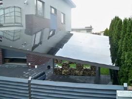 Stikliniai stogeliai, stiklo stogai terasai.