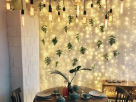 Lempučių girliandų nuoma vestuvėms ir kt. šventėms